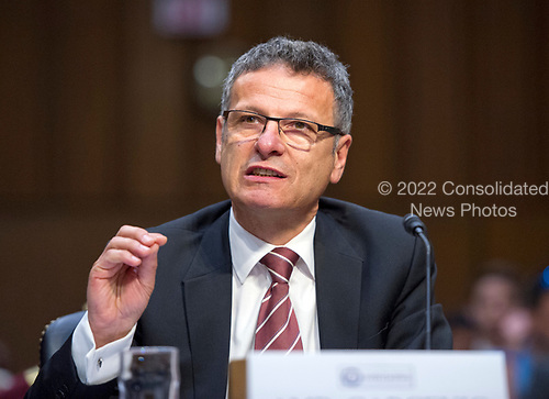 Ambassador Vesko Garcevic, Professor of the Practice of Diplomacy and International Relations, Frederick Pardee School of Global Studies, Boston University, gives testimony before the US Senate Select Committee on Intelligence on the Russian intervention in the 2016 Presidential election on Capitol Hill in Washington, DC on Wednesday, June 28, 2017.<br /> Credit: Ron Sachs / CNP