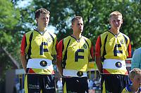 KAATSEN: LEEUWARDEN:: 21-07-2013, Heren Hoofdklasse wedstrijd, Rengersdag, Bauke Triemstra, Alle Jan Anema en Hendrik Kootstra, ©foto Martin de Jong