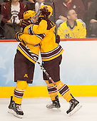 Sam Warning (MN - 11), Mike Reilly (MN - 5) - The Union College Dutchmen defeated the University of Minnesota Golden Gophers 7-4 to win the 2014 NCAA D1 men's national championship on Saturday, April 12, 2014, at the Wells Fargo Center in Philadelphia, Pennsylvania.