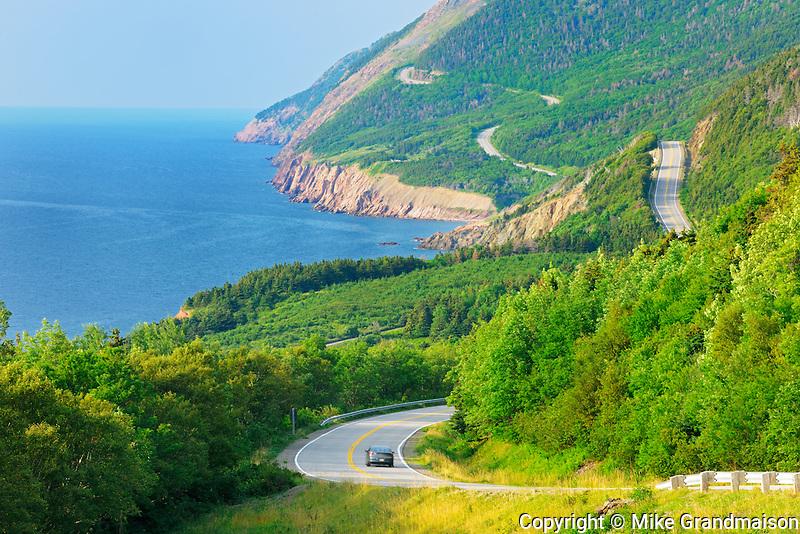 Winding Cabot Trail<br /> CApe Bretom Highlands National Park<br /> Nova Scotia<br /> Canada