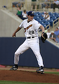 May 12, 2004:  Adam Miller of the Lake County Captains, Low-A South Atlantic League affiliate of the Cleveland Indians, during a game at Classic Park in Eastlake, OH.  Photo by:  Mike Janes/Four Seam Images