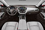 Stock photo of straight dashboard view of 2016 Chevrolet Malibu 2LZ 4 Door Sedan Dashboard