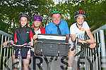 NATIONAL BIKE WEEK: Encouraging Family Fun Cycling and Cycling to work as part of National Bike Week at Ballyseedy Wood on Thursday l-r: Sa?idbh and Myriam Pope, Postman John Brosnan and Tommy Pope.