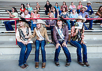 Fans cheer on the horsemanship competition during the Miss Rodeo Queen Colorado competition during the Greely Stampede in Greely, Colorado, July 1, 2015.<br /> <br /> Photo by Matt Nager