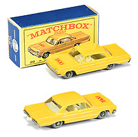BNPS.co.uk (01202 558833)<br /> Pic: Vectis/BNPS<br /> <br /> Pictured: Matchbox Regular Wheels 20c Chevrolet Impala Taxi<br /> <br /> One man's vast collection of model cars amassed over a lifetime has sold at auction for an incredible £250,000.<br /> <br /> Simon Hope, 68, has been collecting matchbox models since he was a small child and has bought over 4,000 over the past six decades.<br /> <br /> His hobby has cost him thousands of pounds and at and engulfed a huge slice of his life but he has now decided to part with the toys