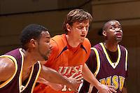 SAN ANTONIO , TX - NOVEMBER 7, 2009: The Midwestern State University Mustangs vs. The University of Texas At San Antonio Roadrunners Men's Basketball at the UTSA Convocation Center. (Photo by Jeff Huehn)