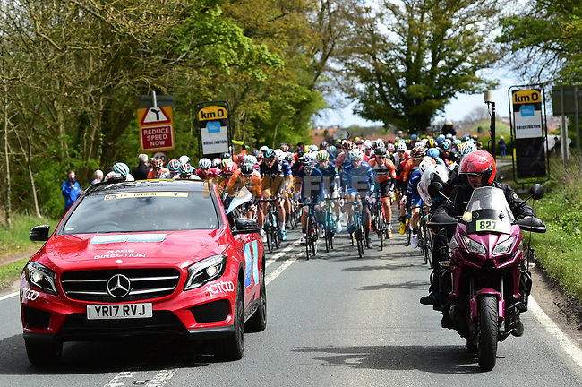 Km0 the start of Stage 1 of the Tour de Yorkshire 2017 running 174km from Bridlington to Scarborough, England. 28th April 2017. <br /> Picture: ASO/P.Ballet | Cyclefile<br /> <br /> <br /> All photos usage must carry mandatory copyright credit (&copy; Cyclefile | ASO/P.Ballet)