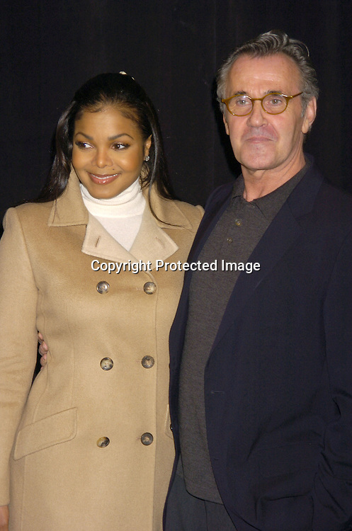 Janet Jackson and Michael Volbracht..at The Bill Blass Fall 2005 Fashion Show on February 8, 2005  at The Tents in Bryant Park.  Michael Volbracht is the designer. ..Photo by Robin Platzer, Twin Images