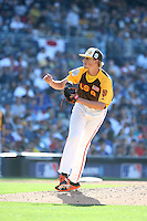 Phil Bickford of the USA Team pitches against the World Team during The Futures Game at Petco Park on July 10, 2016 in San Diego, California. World Team defeated USA Team, 11-3. (Larry Goren/Four Seam Images)