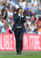 Chelsea manager Antonio Conte <br /> <br /> Photographer Rob Newell/CameraSport<br /> <br /> Emirates FA Cup Final - Chelsea v Manchester United - Saturday 19th May 2018 - Wembley Stadium - London<br />  <br /> World Copyright &copy; 2018 CameraSport. All rights reserved. 43 Linden Ave. Countesthorpe. Leicester. England. LE8 5PG - Tel: +44 (0) 116 277 4147 - admin@camerasport.com - www.camerasport.com