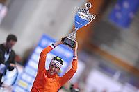SCHAATSEN: ERFURT: Gunda Niemann Stirnemann Eishalle, 21-03-2015, ISU World Cup Final 2014/2015, Final Podium 1500m Ladies, Marrit Leenstra (NED), ©foto Martin de Jong
