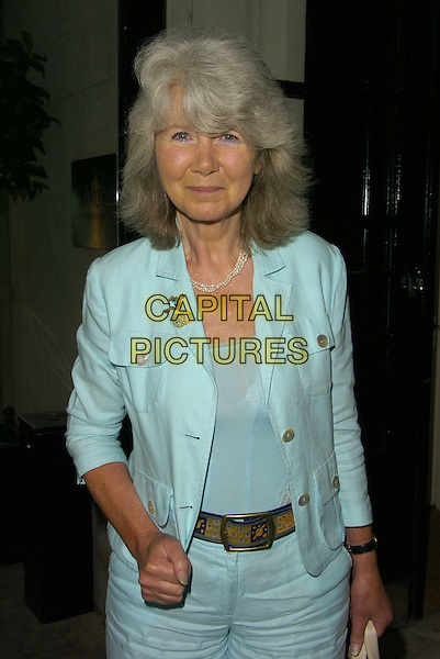 JILLY COOPER.At The Daily Mail Literary Lunch, The Saviy Hotel, London, England, June 26th 2006..half length blue turquoise suit trousers jacket matching.Ref: CAN.www.capitalpictures.com.sales@capitalpictures.com.©Can Nguyen/Capital Pictures