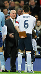 Sir Bobby Charlton meets England captain John Terry during the Friendly International match at Wembley Stadium, London. Picture date 28th May 2008. Picture credit should read: Simon Bellis/Sportimage
