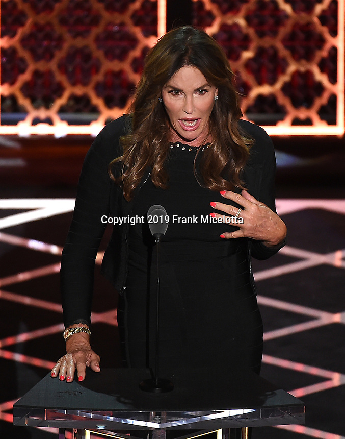 "BEVERLY HILLS - SEPTEMBER 7: Caitlyn Jenner appears onstage at the ""Comedy Central Roast of Alec Baldwin"" at the Saban Theatre on September 7, 2019 in Beverly Hills, California. (Photo by Frank Micelotta/PictureGroup)"