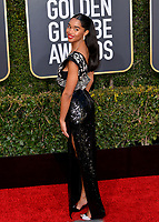 LOS ANGELES, CA. January 06, 2019: Laura Harrier at the 2019 Golden Globe Awards at the Beverly Hilton Hotel.<br /> Picture: Paul Smith/Featureflash