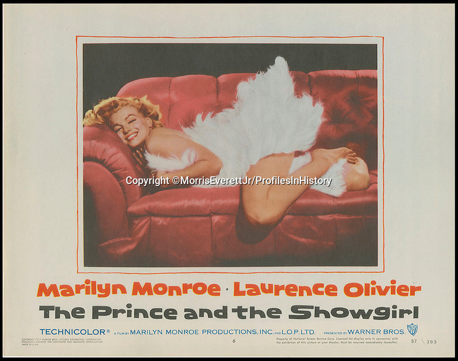 BNPS.co.uk (01202 558833)<br /> PIc: MorrisEverettJr/ProfilesInHistory/BNPS<br /> <br /> ***Please Use Full Byline***<br /> <br /> The Prince and the Showgirl (1957). <br /> <br /> The world's largest collection of movie posters boasting artwork from almost every single film made in the last century has emerged for sale for &pound;5 million.<br /> <br /> The colossal archive features 196,000 posters from more than 44,000 films, and has been singlehandedly pieced together by one avid collector over the last 50 years.<br /> <br /> Morris Everett Jr has dedicated his life's work to seeking out original posters from every English-speaking film ever made and compiling them into a comprehensive library.<br /> <br /> The sale is tipped to make $8 million - around &pound;5 million pounds - when it goes under the hammer in one lot at Califonia saleroom Profiles in History on December 17.