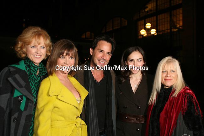 AMC's Jill Larson, Bobbie Eakes, Ricky Paull Goldin, Eden Riegel & OLTL's Ilene Kristen pose at the ABC Daytime Casino Night on October 23, 2008 at Guastavinos, New York CIty, New York. (Photo by Sue Coflin/Max Photos)