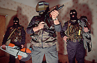 Moscow, Russia, 1/3/1997..Moscow Tax Police Physical Protection Dept with equipment used for entering premises of firms suspected of tax evasion.