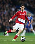 Middlesbrough's Marten de Roon in action during the Premier League match at Stamford Bridge Stadium, London. Picture date: May 8th, 2017. Pic credit should read: David Klein/Sportimage