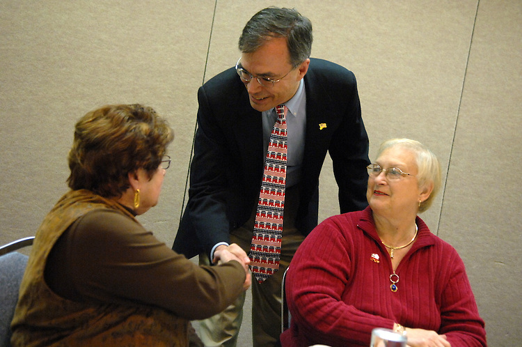Candidate Andy Harris, R-1st/MD, greets members of the Delmarva Republican Women in Ocean City, Maryland.