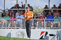 Henrik Stenson (SWE) watches his tee shot on 1 during 3rd round of the World Golf Championships - Bridgestone Invitational, at the Firestone Country Club, Akron, Ohio. 8/4/2018.<br /> Picture: Golffile | Ken Murray<br /> <br /> <br /> All photo usage must carry mandatory copyright credit (© Golffile | Ken Murray)