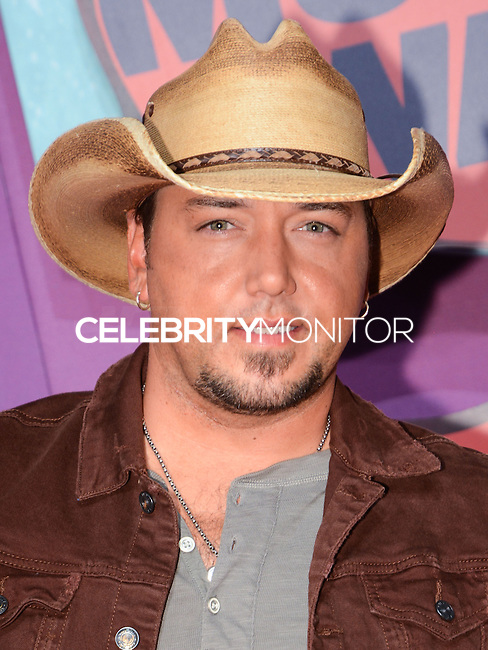 NASHVILLE, TN, USA - JUNE 04: Jason Aldean at the 2014 CMT Music Awards held at the Bridgestone Arena on June 4, 2014 in Nashville, Tennessee, United States. (Photo by Celebrity Monitor)