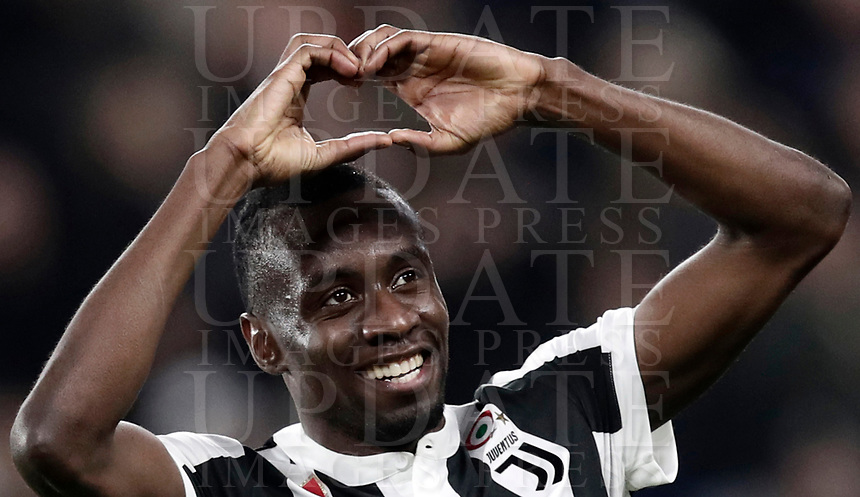 Calcio, Serie A: Juventus - Atalanta, Torino, Allianz Stadium, 14 marzo 2018. <br /> Juventus' Blaise Matuidi celebrates after scoring during the Italian Serie A football match between Juventus and Atalanta at Torino's Allianz stadium, March 14, 2018.<br /> UPDATE IMAGES PRESS/Isabella Bonotto