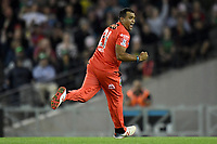10th January 2020; Marvel Stadium, Melbourne, Victoria, Australia; Big Bash League Cricket, Melbourne Renegades versus Melbourne Stars; Samit Patel of the Renegades celebrates a wicket - Editorial Use