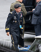 United States Army General Paul M. Nakasone, Commander, U.S. Cyber Command and Director, National Security Agency/Chief, Central Security Service, departs a meeting at the White House in Washington, DC that included US Deputy Attorney General Rod Rosenstein on Monday, September 24, 2018.<br /> Credit: Ron Sachs / CNP<br /> (RESTRICTION: NO New York or New Jersey Newspapers or newspapers within a 75 mile radius of New York City)