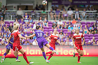 Orlando, FL - Saturday April 22, 2017: Kasey Kallman, Kristen Edmonds, Shelina Zadorsky during a regular season National Women's Soccer League (NWSL) match between the Orlando Pride and the Washington Spirit at Orlando City Stadium.