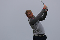 Cathal Butler (Kinsale) on the 4th tee during Round 3 of The West of Ireland Open Championship in Co. Sligo Golf Club, Rosses Point, Sligo on Saturday 6th April 2019.<br /> Picture:  Thos Caffrey / www.golffile.ie