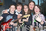 BAND: Serve The Nerve who rocked the KDYS Denny Street, Tralee on Friday evening at Battle of the Bands. l-r: Glenn Dunleavey, Zach Buggy, Luke Stafford Lacey, Eoin Murphy and Gary O'Connor...