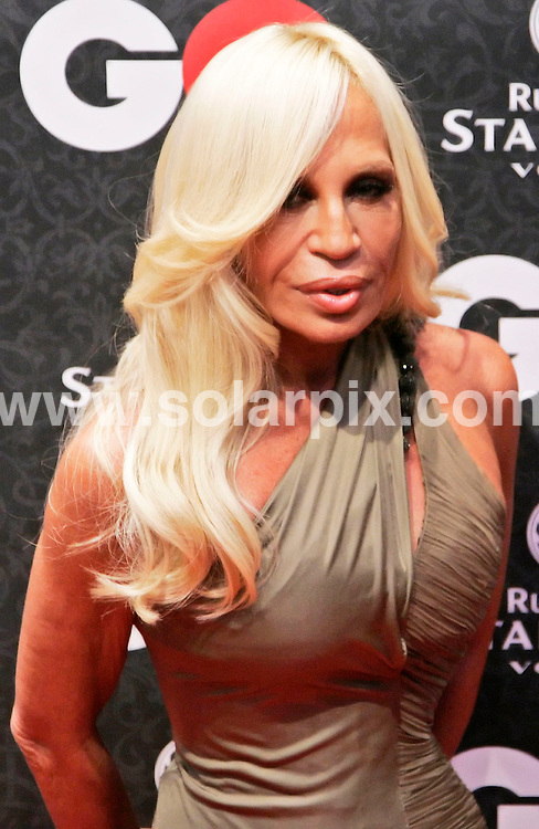 **ALL ROUND PICTURES FROM SOLARPIX.COM**.**SYNDICATION RIGHTS FOR UK AND SPAIN ONLY**.The Formula 1 British Ace Lewis Hamilton at the GQ Men of the year 2007'awards in Munich Germany held yesterday..This pic:Donatella Versace.JOB REF: 5187-CPR        DATE:25_10_07.**MUST CREDIT SOLARPIX.COM OR DOUBLE FEE WILL BE CHARGED* *UNDER NO CIRCUMSTANCES IS THIS IMAGE TO BE REPRODUCED FOR ANY ONLINE EDITION WITHOUT PRIOR PERMISSION*