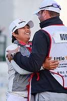 Haru Nomura (JPN) rushes to hug her caddie, Jason McDede after surviving six playoff holes to win the Volunteers of America Texas Shootout Presented by JTBC, at the Las Colinas Country Club in Irving, Texas, USA. 4/30/2017.<br /> Picture: Golffile | Ken Murray<br /> <br /> <br /> All photo usage must carry mandatory copyright credit (&copy; Golffile | Ken Murray)
