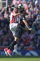 Stoke City's Jonathan Walters battles with Liverpool's Emre Can<br /> <br /> Photographer Terry Donnelly/CameraSport<br /> <br /> The Premier League - Stoke City v Liverpool - Saturday 8th April 2017 - bet365 Stadium - Stoke-on-Trent<br /> <br /> World Copyright &copy; 2017 CameraSport. All rights reserved. 43 Linden Ave. Countesthorpe. Leicester. England. LE8 5PG - Tel: +44 (0) 116 277 4147 - admin@camerasport.com - www.camerasport.com