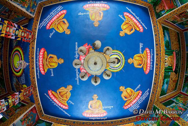 Phnom Sampeau Pagoda Ceiling