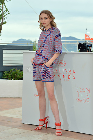 Lily-Rose Depp at the Photocall &acute;La Danseuse` - 69th Cannes Film Festival on May 13, 2016 in Cannes, France.<br /> CAP/LAF<br /> &copy;Lafitte/Capital Pictures /MediaPunch ***NORTH AND SOUTH AMERICA ONLY***