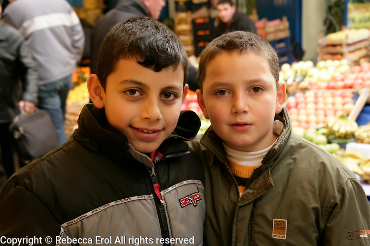 Turkish boys in Istanbul, Turkey