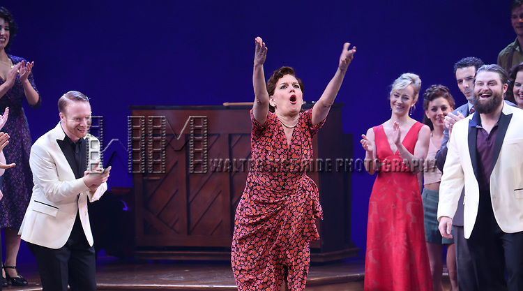 Beth Leavel and cast and cast during the Broadway Opening Night Curtain Call Bows of 'Bandstand' at the Bernard B. Jacobs Theatre on 4/26/2017 in New York City.
