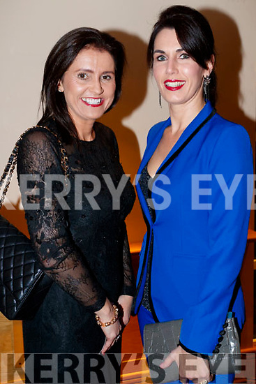 Deirdre Kissane and Catherine Keane, enjoying the Dunnes Stores and Paul Galvin Shelby Autumn Winter Fashion Show, held at the Brandon Hotel, Tralee on Friday night last.