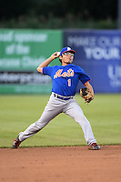 Dylon Poncho (1) of Kinder High School in Elton, Louisiana playing for the New York Mets scout team during the East Coast Pro Showcase on July 31, 2014 at NBT Bank Stadium in Syracuse, New York.  (Mike Janes/Four Seam Images)