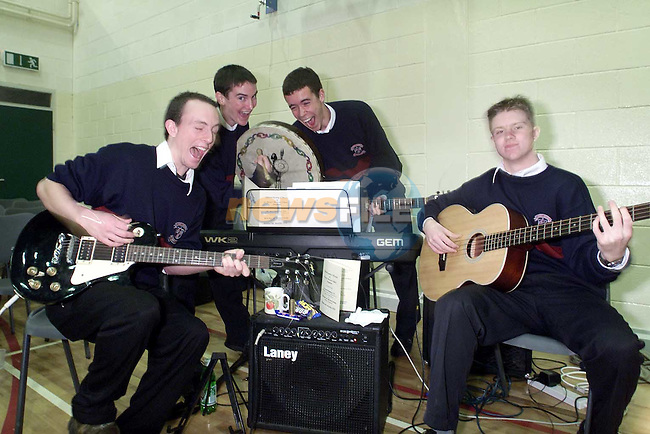 Kevin O'Brien, Kevin Sheridan, Brian Connelly and Padraig Corcoran of 'Geriko' playing at the official opening of St. Mary's Boys School..Picture: Paul Mohan/Newsfile