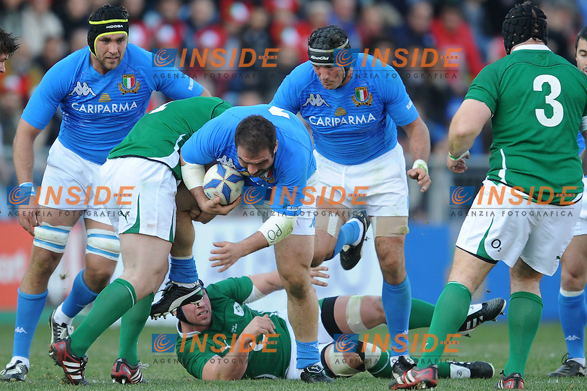 Salvatore Perugini (Italia)<br /> Italia vs Irlanda 11-13<br /> Six Nations Rugby<br /> Stadio Flaminio, Roma, 05/02/2011<br /> Photo Antonietta Baldassarre Insidefoto