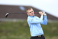 Jensen Hull (Hever Castle) on the 5th tee during Round 1 of the The Amateur Championship 2019 at The Island Golf Club, Co. Dublin on Monday 17th June 2019.<br /> Picture:  Thos Caffrey / Golffile<br /> <br /> All photo usage must carry mandatory copyright credit (© Golffile | Thos Caffrey)