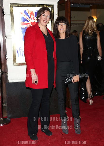 Miranda Hart and Claudia Winkleman arriving for VIVA Forever Spice Girls the Musical held at the Piccadilly Theatre. 11/12/2012 Picture by: Henry Harris / Featureflash