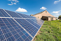 Farm yard ground mounted solar panels i- Lincolnshire, October