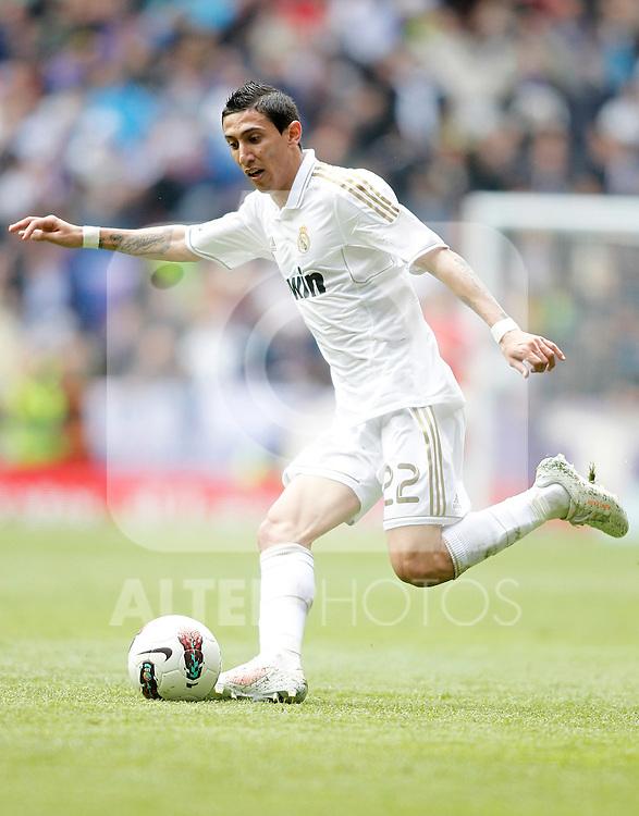 Real Madrid's Angel Di Maria during La Liga match. April 29, 2012. (ALTERPHOTOS/Alvaro Hernandez)