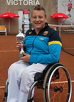 August 6, 2014, Netherlands, Rotterdam, TV Victoria, Tennis, National Junior Championships, NJK,  Wheelchair, 3rd place Mitchel Graauw <br /> Photo: Tennisimages/Henk Koster