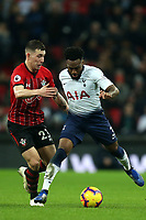 Pierre-Emile Hojbjerg of Southampton andDanny Rose of Tottenham Hotspur during Tottenham Hotspur vs Southampton, Premier League Football at Wembley Stadium on 5th December 2018