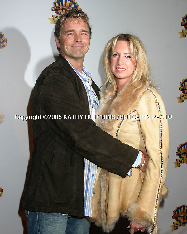 ©2005 KATHY HUTCHINS /HUTCHINS PHOTO.WARNER BROS TV AND WARNER HOME VIDEO.CELEBRATE 50 YEARS OF QUALITY TV.WARNER BROTHERS LOT.BURBANK, CA  .JANUARY 20, 2005..JOHN SCHNEIDER.AND WIFE